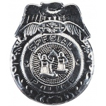 Rubie's Costumes Badge Police Silver One Size