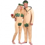 Adam & Eve  Adult Costume: Tan, Standard One-Size, Everyday, Unisex, Adult
