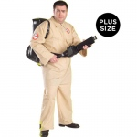 Ghostbusters Adult Plus Costume: Tan, Plus, Everyday, Male, Adult