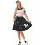 50's Hop With Poodle Skirt Adult Costume - Small