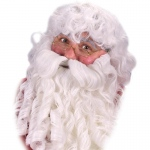 Fun World Deluxe Santa Wig, Beard and Eyebrows Set One Size