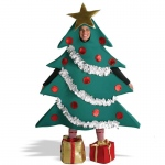 Christmas Tree with Shoe Boxes Adult Costume: Green, L/XL, Christmas, Unisex, Adult