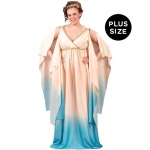 Atlantis Goddess Adult Plus Costume: White, 16W-24W, Everyday, Female, Adult