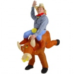 Ride a Bull Inflatable Adult Costume: Brown, Standard One Size, Everyday, Male, Adult