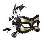 Forum Novelties Black and Gold Carnival Mask One Size