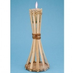 Natural Bamboo Mini Table Torch: Everyday, Unisex, Adult