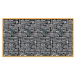 30' Stone Wall Backdrop: Halloween, Unisex, Adult