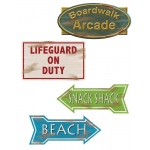 Beach Sign Cutouts (4 count): Everyday, Unisex, Adult