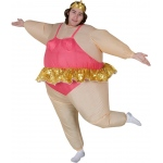 Inflatable Ballerina  Adult Costume: Pink, One-Size, Everyday, Male, Adult