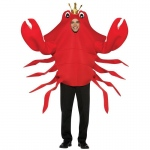 King Crab Adult Costume: Red, One-Size, Everyday, Male, Adult
