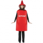 Ketchup Adult Costume: Red, One-Size, Everyday, Unisex, Adult