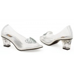 Ariel (Clear) Adult Shoes: White, 7, Everyday, Female, Adult
