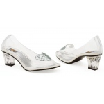 Ariel (Clear) Adult Shoes: White, 9, Everyday, Female, Adult