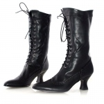 Amelia (Black) Adult Boots: Black, 6, Everyday, Female, Adult