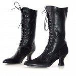 Amelia (Black) Adult Boots: Black, 7, Everyday, Female, Adult