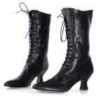 Amelia (Black) Adult Boots: Black, 8, Everyday, Female, Adult