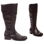 Bernard (Black) Adult Boots: Black, Small, Everyday, Male, Adult