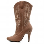 Cowgirl (Brown) Adult Boots: Brown, 8, Everyday, Female, Adult