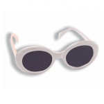Forum Novelties Mod White Sunglasses One-Size