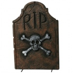 "Amscan 22"" Skull and Crossbones RIP Tombstone"