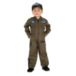 Air Force Pilot Child Costume: Brown, 4-6, Everyday, Unisex, Child