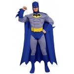Batman Brave & Bold Deluxe Muscle Chest Adult Costume - Large