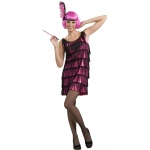 20's Pink Flapper Adult Costume - X-Small/Small