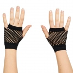 Forum Novelties 80's Black Short Fishnet Adult Gloves One Size