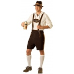 Bavarian Guy Adult Costume: Brown, Large, Everyday, Male, Adult
