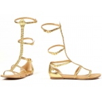 Cairo Adult Shoes: Gold, 8, Everyday, Female, Adult
