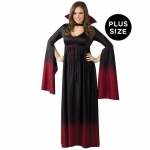 Blood Vampiress Adult Plus Costume: Red, Plus, Halloween, Female, Adult