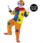 Big Top Clown Adult Plus Costume: Yellow, Plus, Everyday, Male, Adult