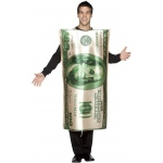 $100 Bill Adult Costume: White, One Size Fits Most Adults, Everyday, Unisex, Adult