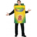 Crayola Crayon Box Adult Costume: Yellow, One Size Fits Most Adults, Everyday, Unisex, Adult