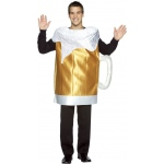 Beer Mug Adult Costume: Brown, One Size Fits Most Adults, Everyday, Male, Adult