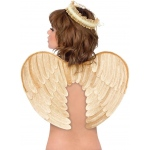 Palamon Gold  Velvet Angel Wings and Halo Accessory Kit (Adult) One-Size