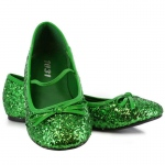Green Sparkle Flat Shoes Child - Medium (13/1)