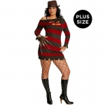 A Nightmare On Elm Street - Miss Krueger Adult Plus Costume: Red, One-Size, Everyday, Female, Adult