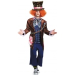 Alice In Wonderland Movie - Deluxe Mad Hatter Adult Costume: Brown, X-Large, Everyday, Male, Adult