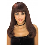 Forum Novelties Brown Wig with Bangs One-Size