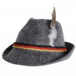 German Alpine Hat Adult: Gray, One-Size, Oktoberfest, Unisex, Adult