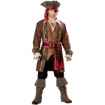 Captain Skullduggery Elite Adult Costume: Brown, Medium, Everyday, Male, Adult