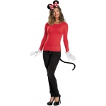 Disguise Disney Red Minnie Mouse Accessory Kit (Adult) One-Size