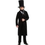 Abraham Lincoln Child Costume: Black, Large, Everyday, Male, Child