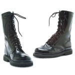 Combat Adult Boots: Black, Large, Everyday, Male, Adult