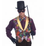 Mardi Gras Vest and Bow Tie Accessory Kit (Adult): Green/Purple, Standard, Everyday, Male, Adult