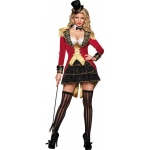 Big Top Tease Adult Costume: Red/Black, X-Small, Everyday, Female, Adult
