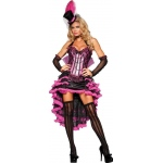 Burlesque Beauty Adult Costume: Black/Hot Pink, Small, Everyday, Female, Adult