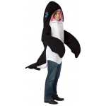 Killer Whale Adult Costume: Black & White, One-Size, Everyday, Unisex, Adult