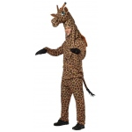 Giraffe Adult Costume: Brown & Tan, One-Size, Everyday, Unisex, Adult